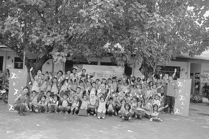 XL Future leader Care to share di SDN 01 TambakWedi, Surabaya